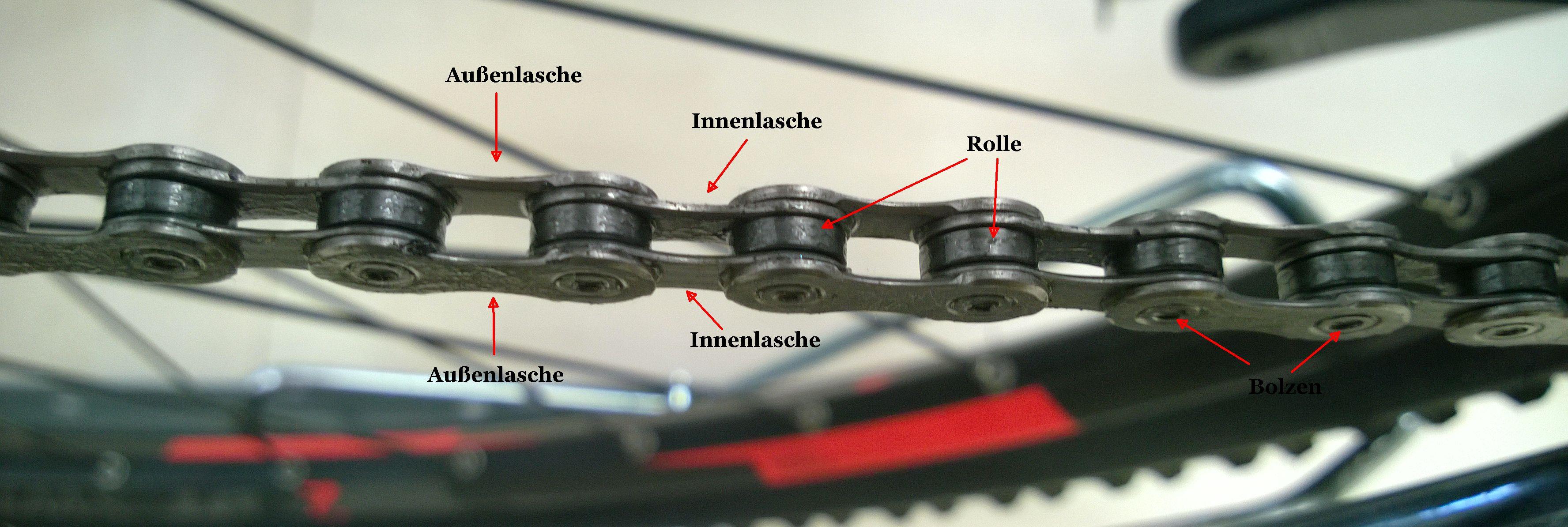 Der Aufbau einer Fahrradkette im Detail
