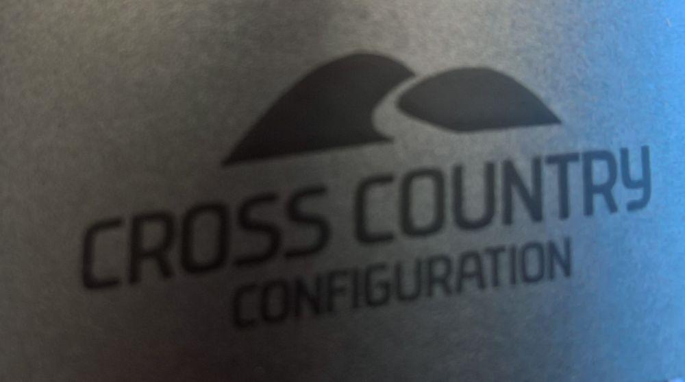 Schriftzug Cross-Country Fahrradrahmen